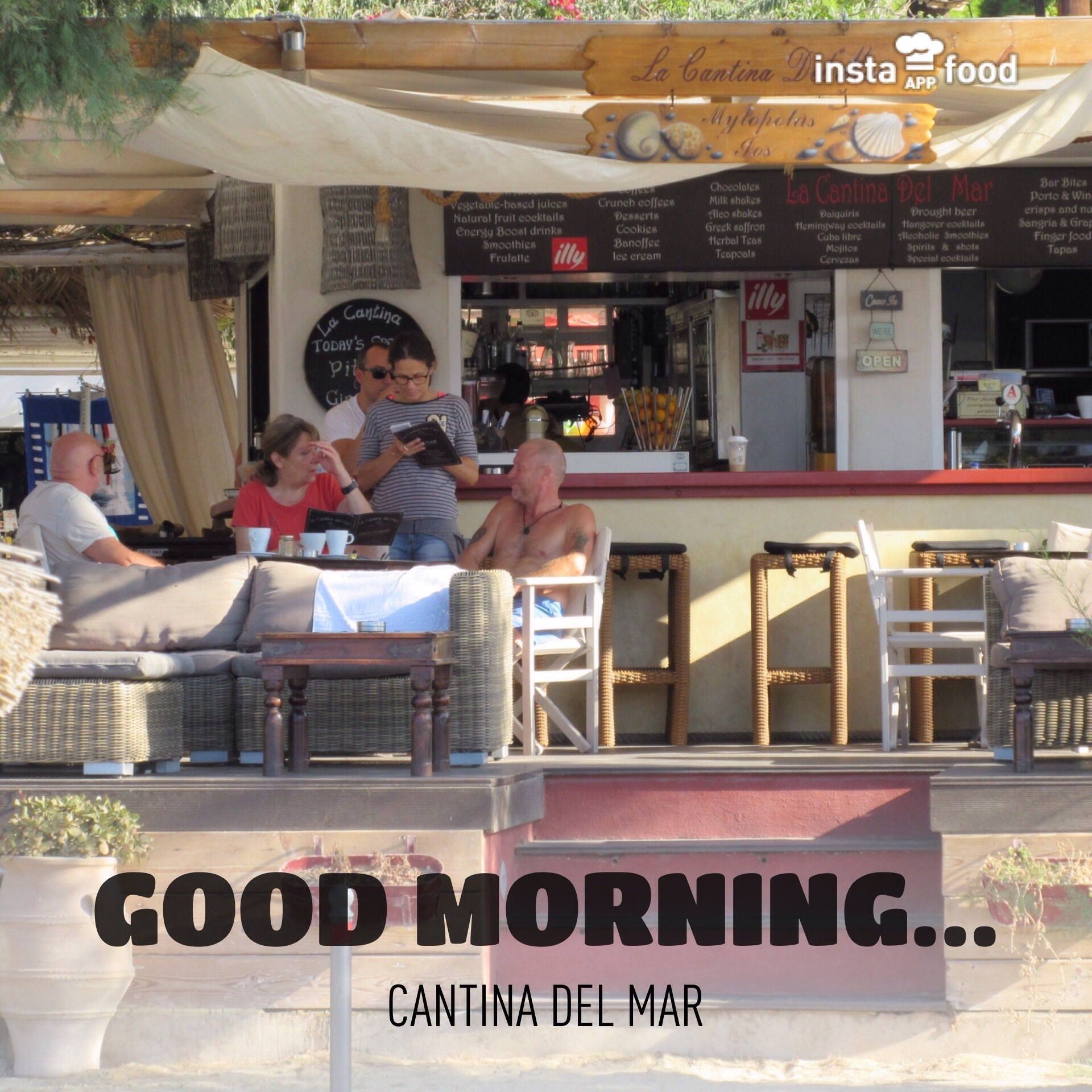 Cantina del mar comfort food beach bar restaurant for Food bar cantina zamet